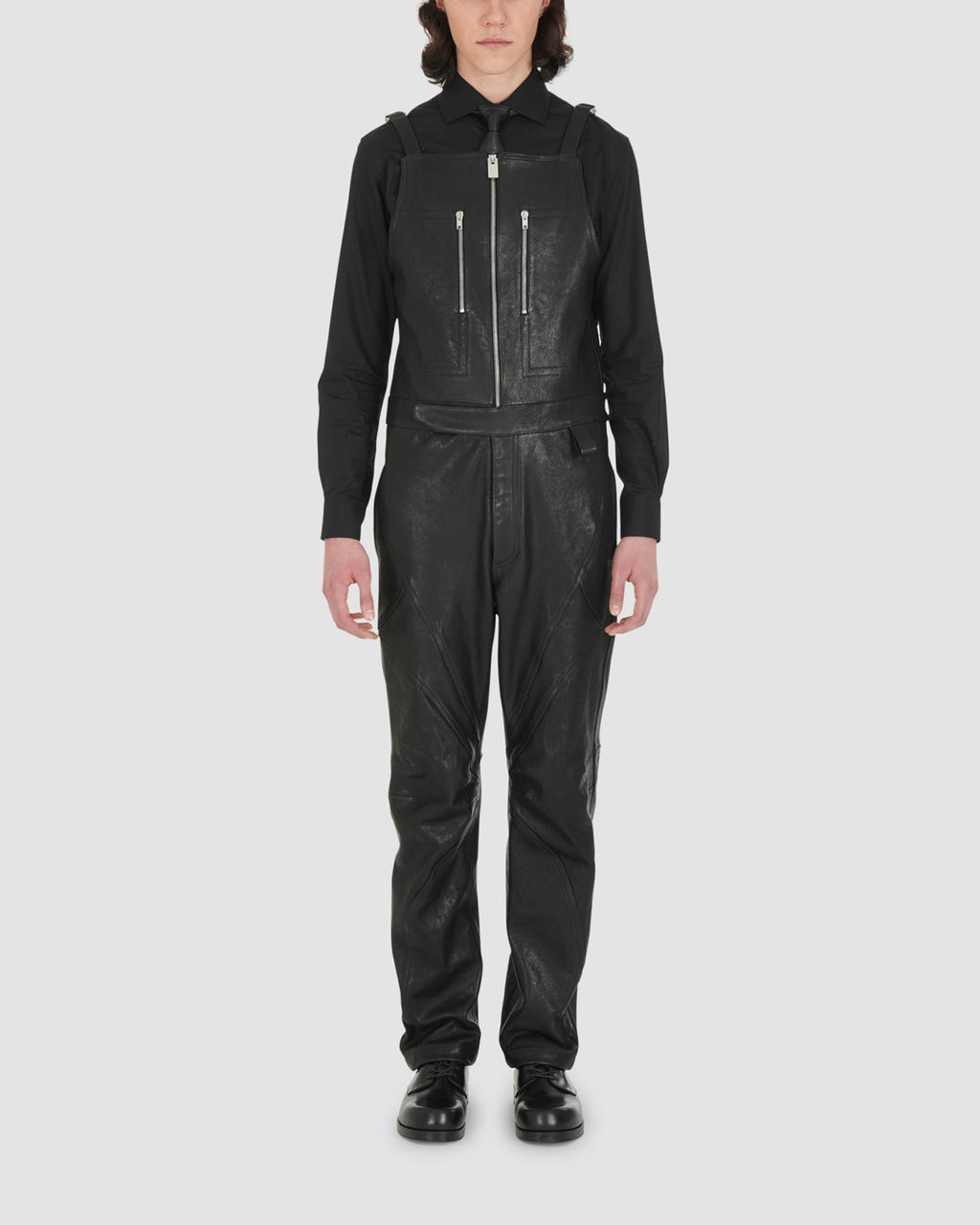 LEATHER FUORIPISTA OVERALL RUNWAY MADE TO ORDER