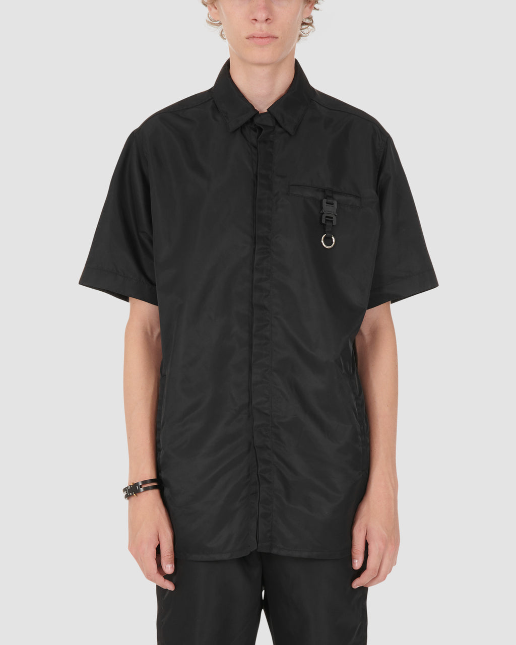 1017 ALYX 9SM | BLACK SS BUTTON UP W BUCKLE | Shirt | Black, Google Shopping, Man, MEN, S20, S20 Drop II, Shirts, TOPS & SHIRTS