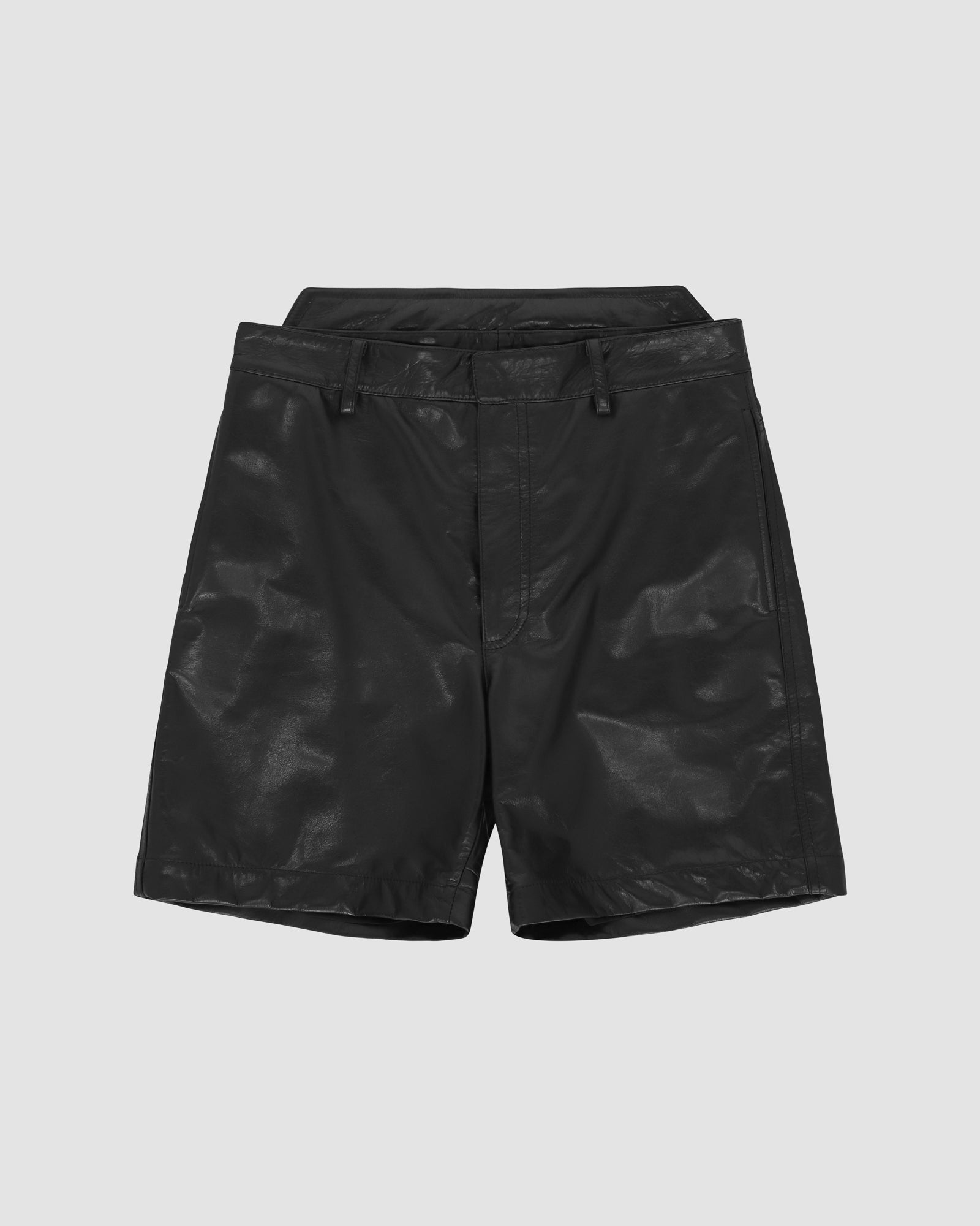 LEATHER FUORIPISTA SHORT