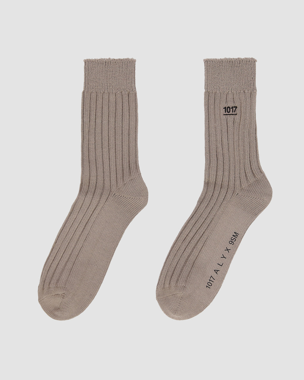 RIBBED SOCK WITH LOGO