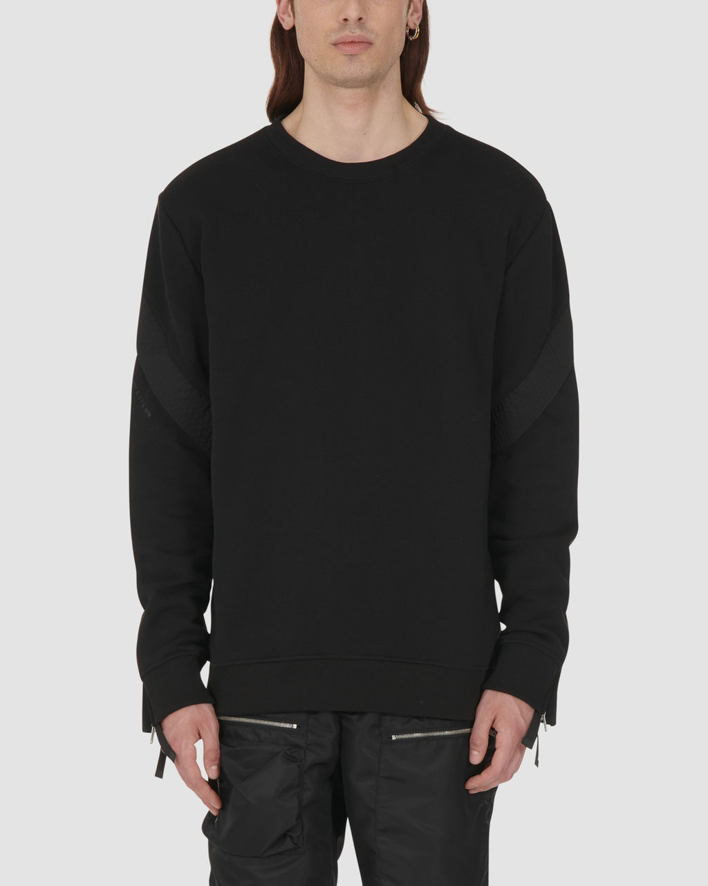 1017 ALYX 9SM | TREK CREWNECK SWEATSHIRT | Sweatshirt | Black, Google Shopping, Man, MEN, S20, S20 Drop II, Sweatshirts