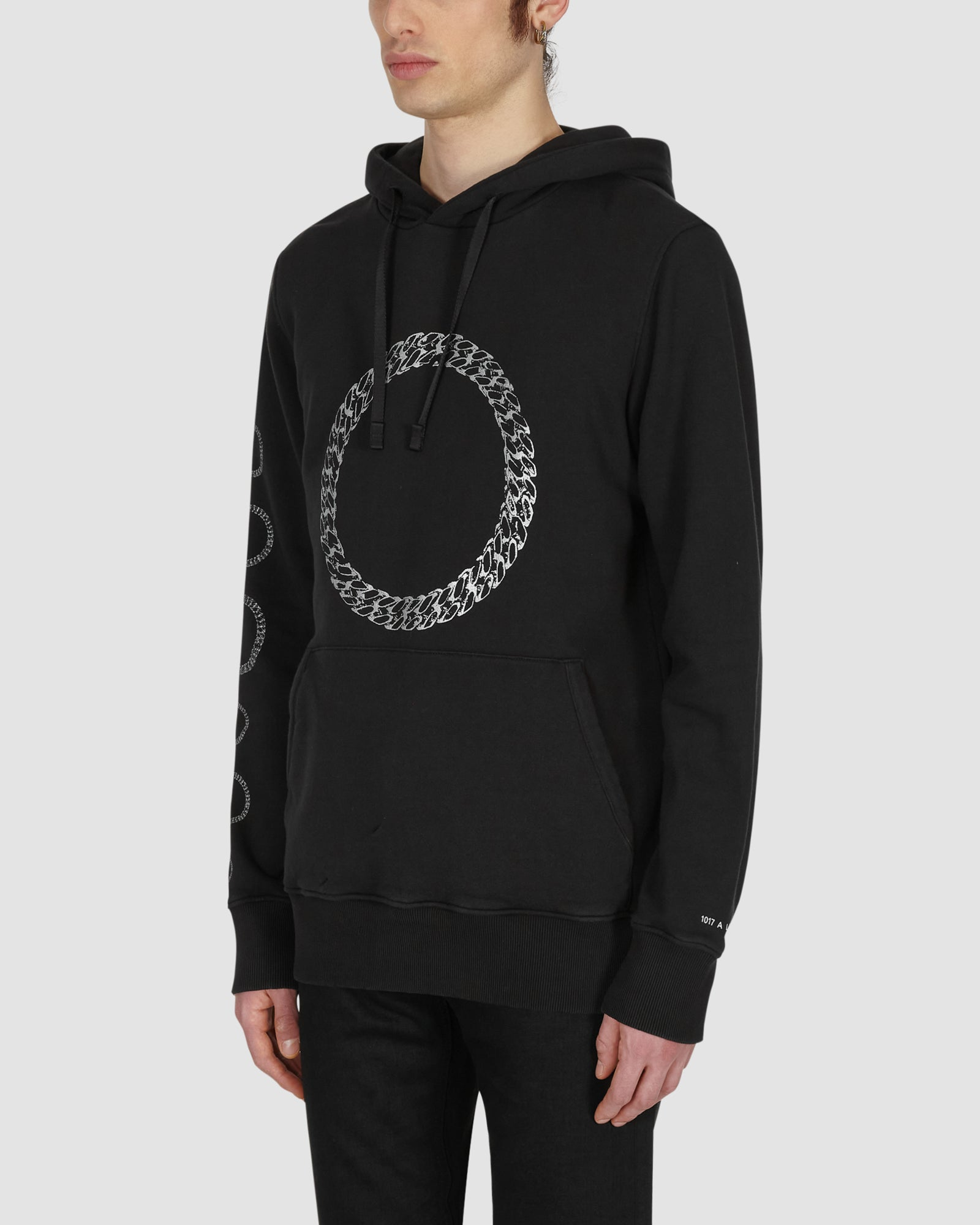 HOODIE WITH CUBE CHAIN GRAPHIC