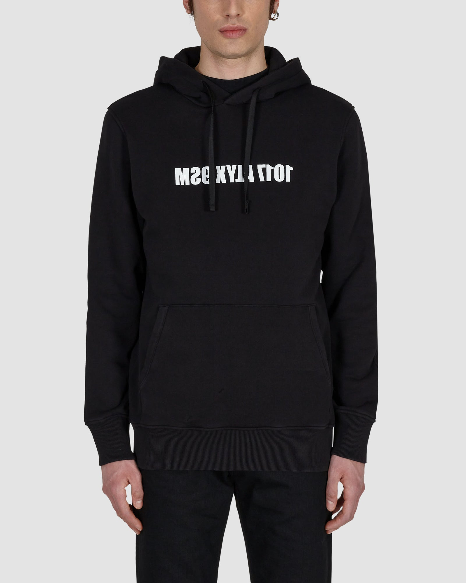 HOODIE WITH MIRROR LOGO GRAPHIC