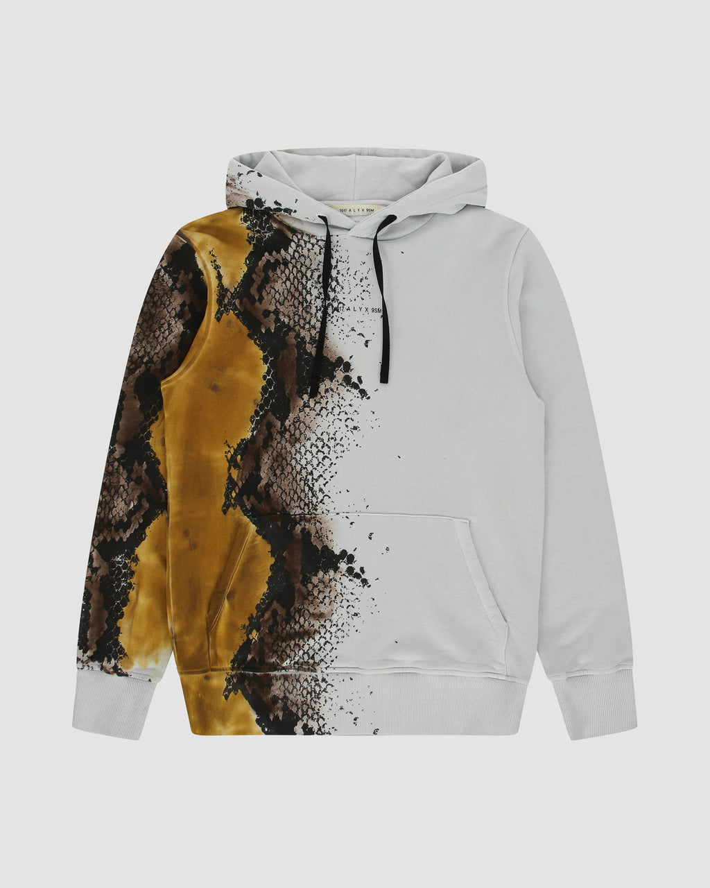HOODIE WITH PYTHON TREATMENT