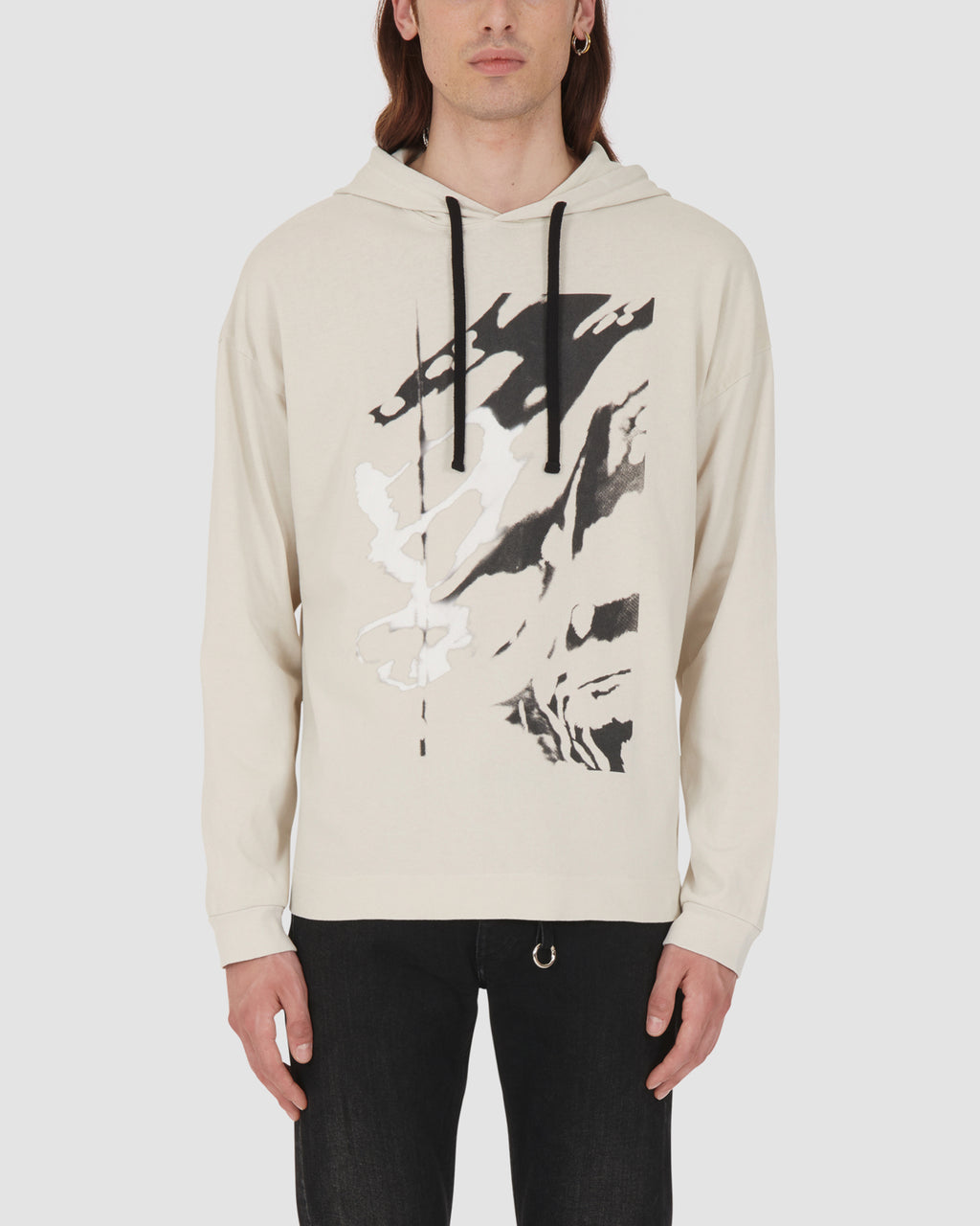1017 ALYX 9SM | HOODED TEE W DIGITAL PRINT | T-Shirt | Google Shopping, Man, MEN, S20, S20 Drop II, SAND, T-Shirts