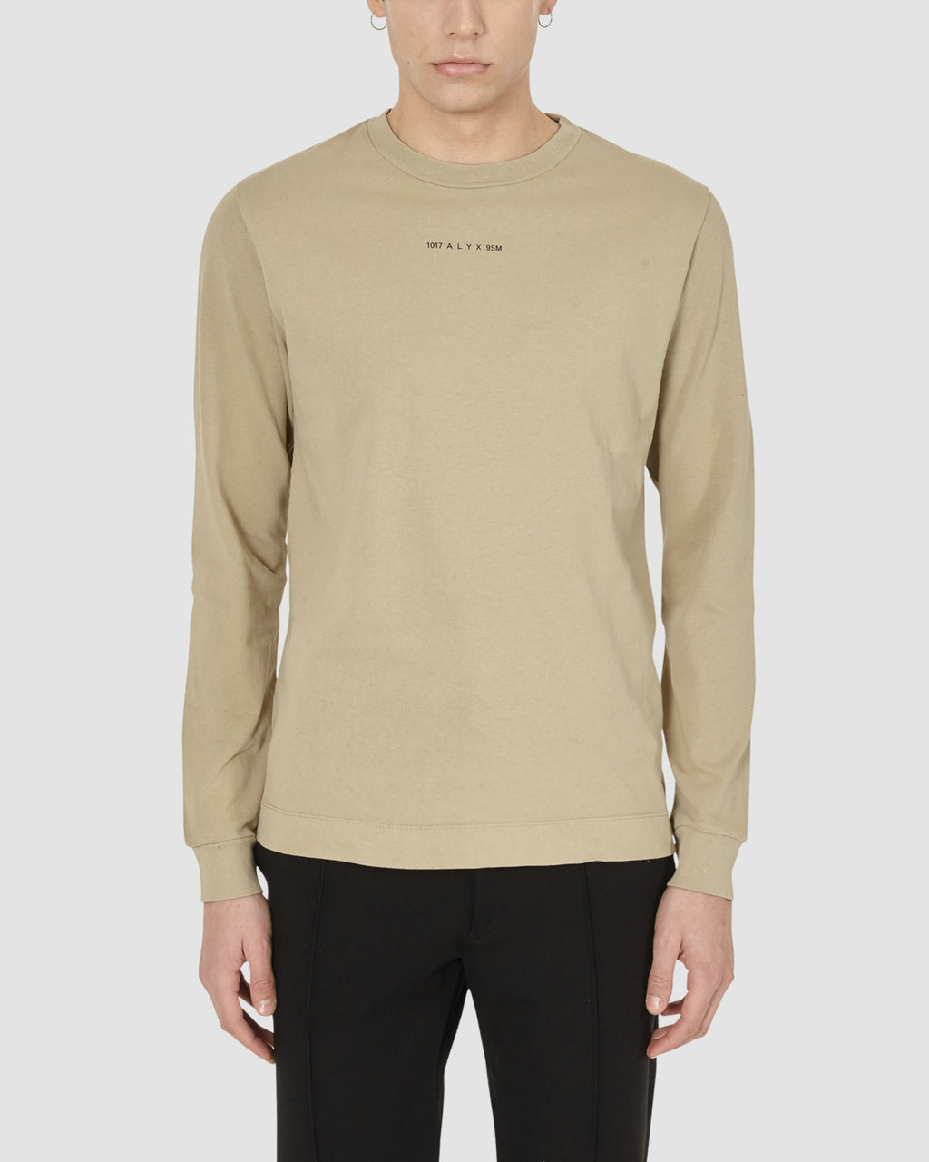 1017 ALYX 9SM | LS TEE W PRINTS | T-Shirt | DARK TAN, Google Shopping, Man, MEN, S20, S20EXSH, T-Shirts