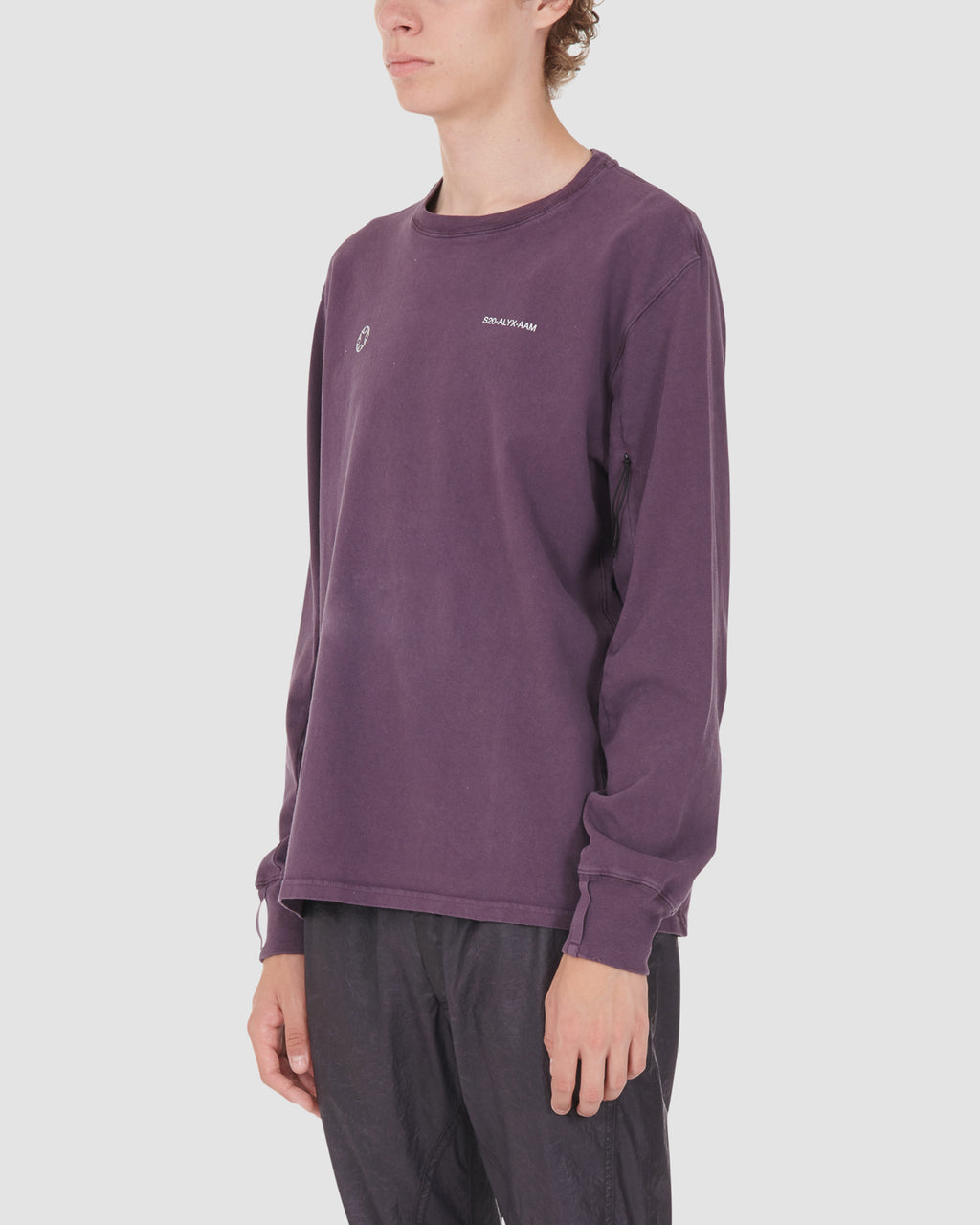 1017 ALYX 9SM | LS TEE W PRINT | T-Shirt | Google Shopping, Man, MEN, PURPLE, S20, S20 Drop II, T-Shirts