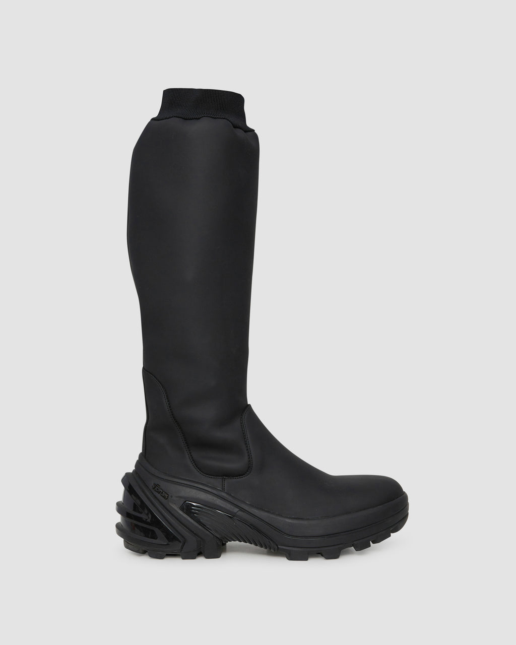 KNEE BOOT WITH FIXED SOLE