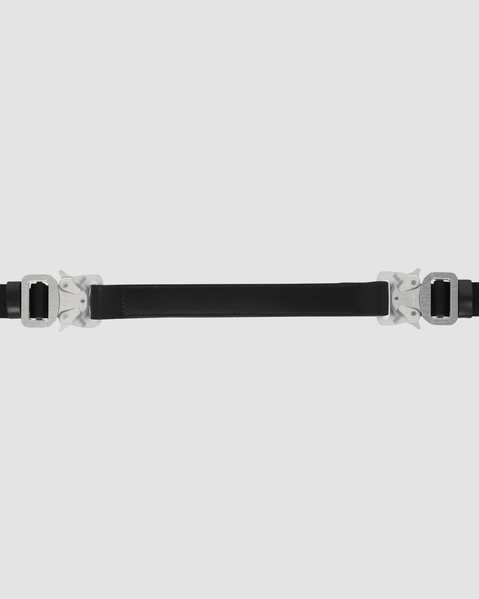DOUBLE BUCKLE MIXED NYLON & METAL MEDIUM ROLLERCOASTER BELT