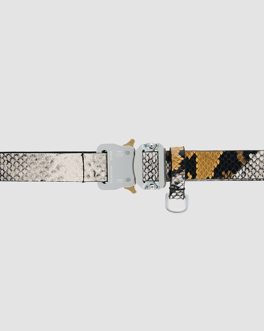 LEATHER ANIMAL PRINT MEDIUM ROLLERCOASTER BELT