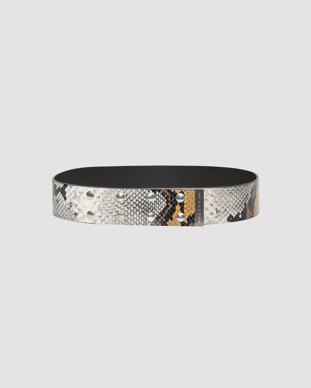 LEATHER ANIMAL PRINT SNAP BELT