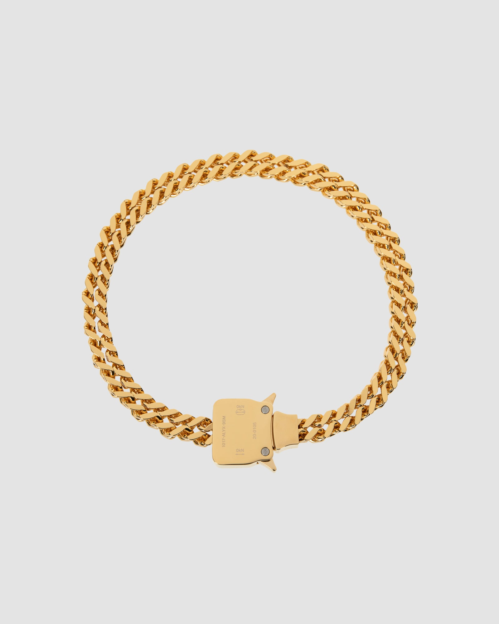CUBIX CHAIN NECKLACE W/ FIXED BUCKLE
