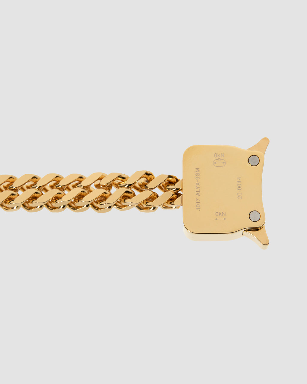 CUBIX CHAIN BRACELET W/ FIXED BUCKLE