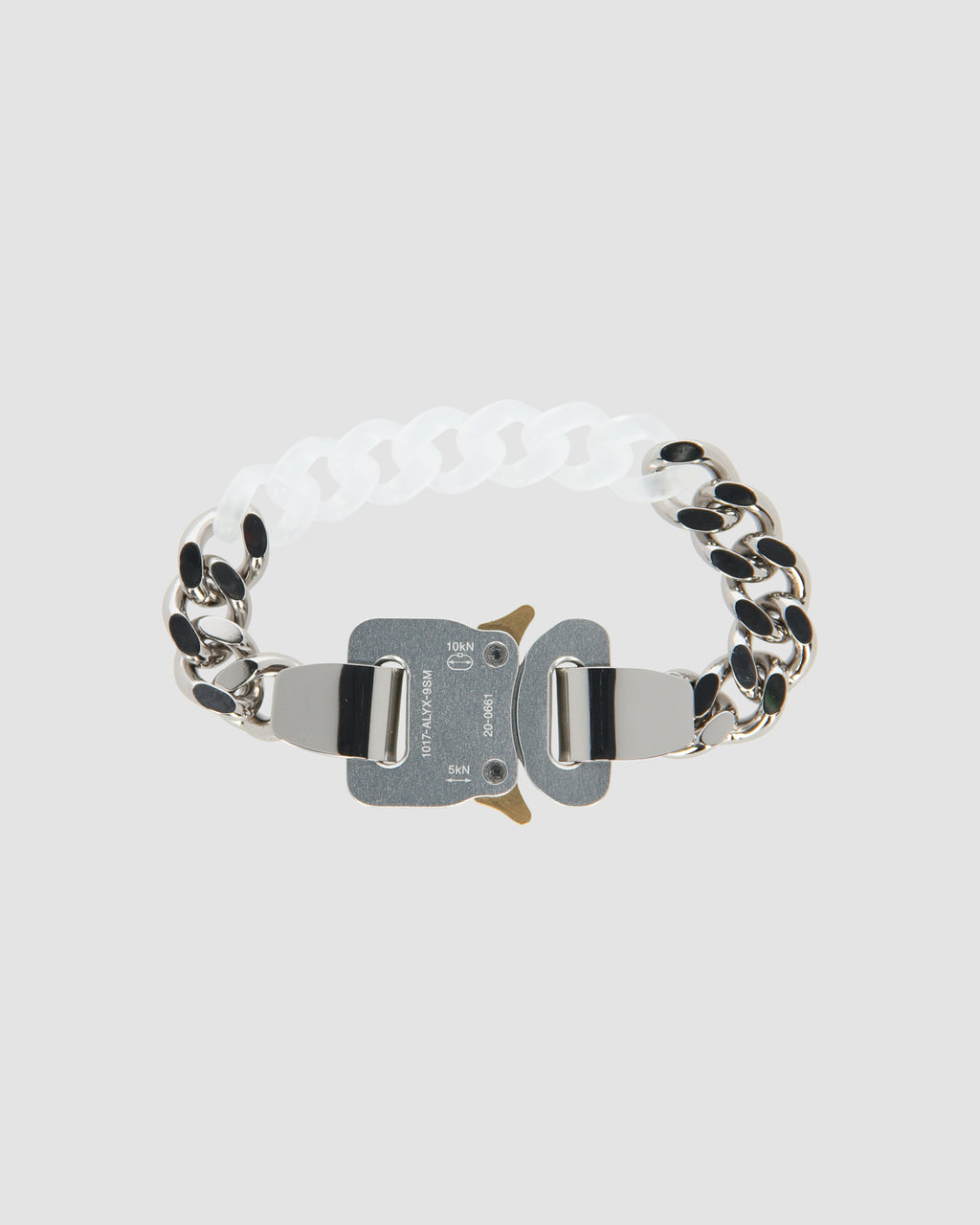METAL AND NYLON CHAIN BRACELET