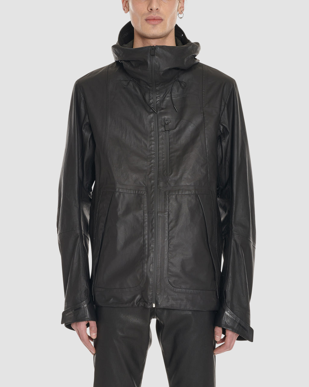LIGHTTECH LEATHER WINDBREAKER