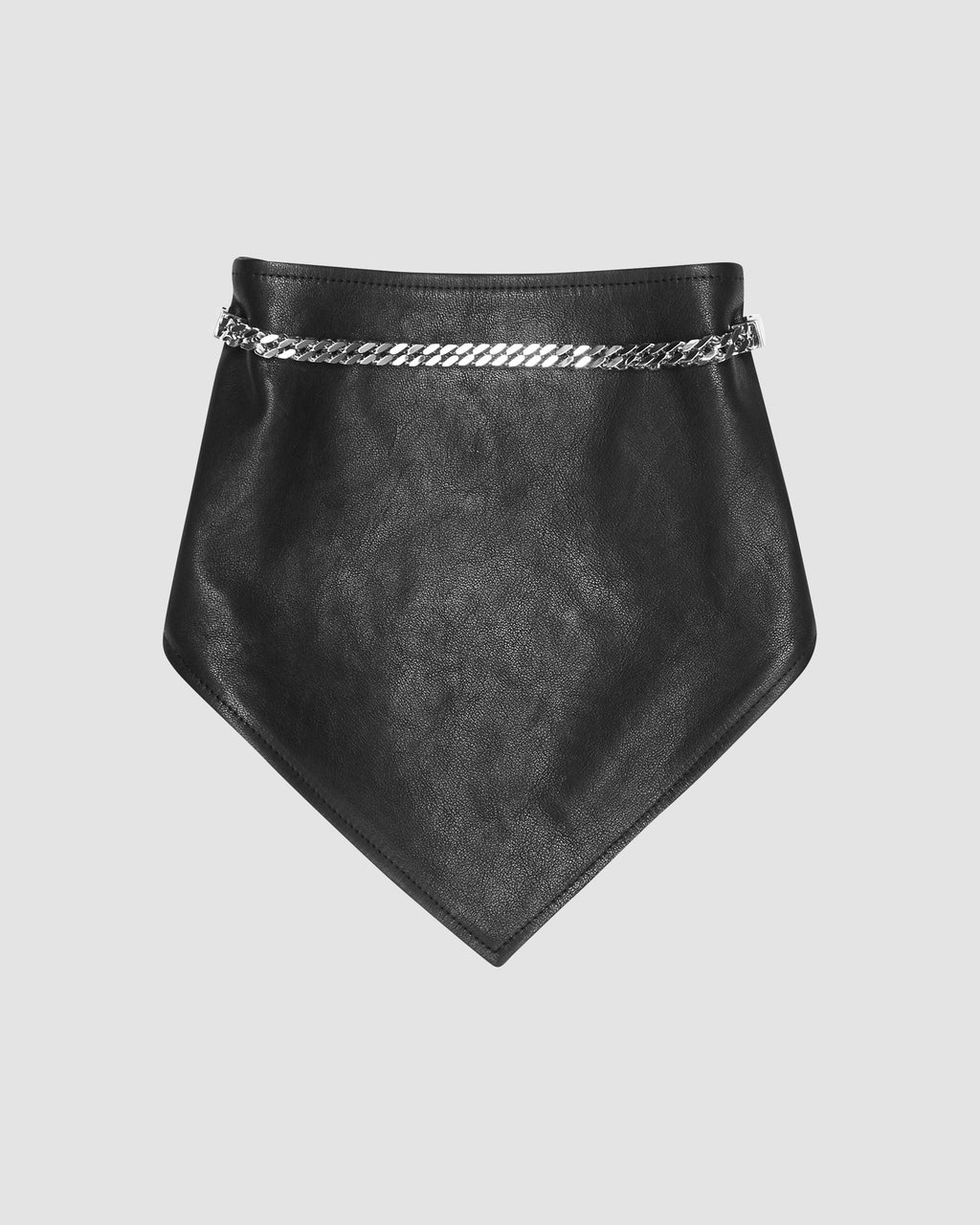 LEATHER BANDANA WITH CHAIN MADE TO ORDER