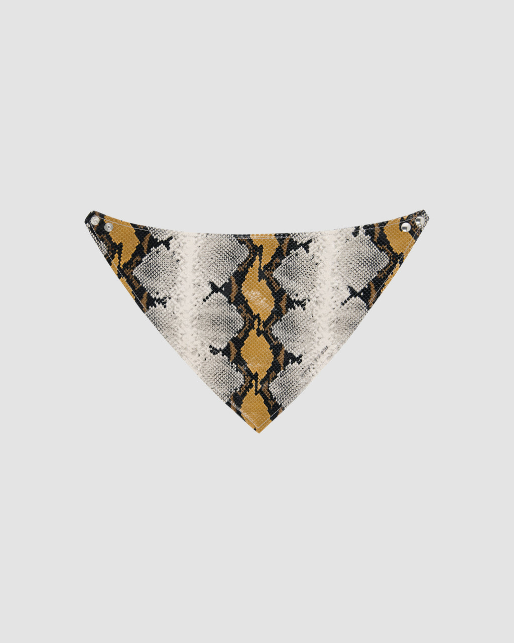 LEATHER ANIMAL PRINT BANDANA W/ METAL LOGO