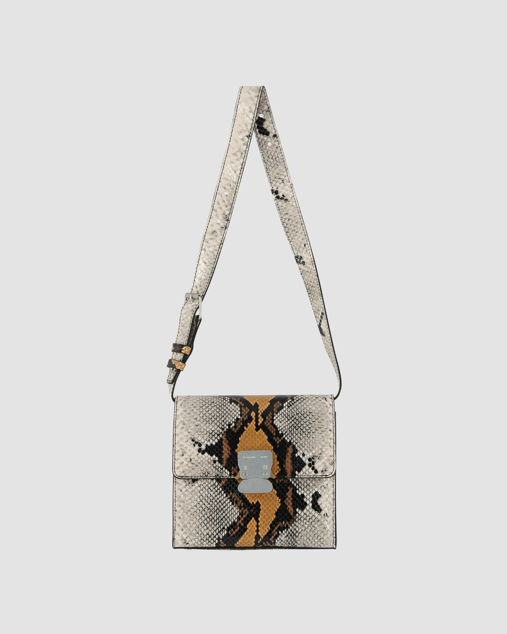 LUDO BAG WITH ANIMAL PRINTED LEATHER