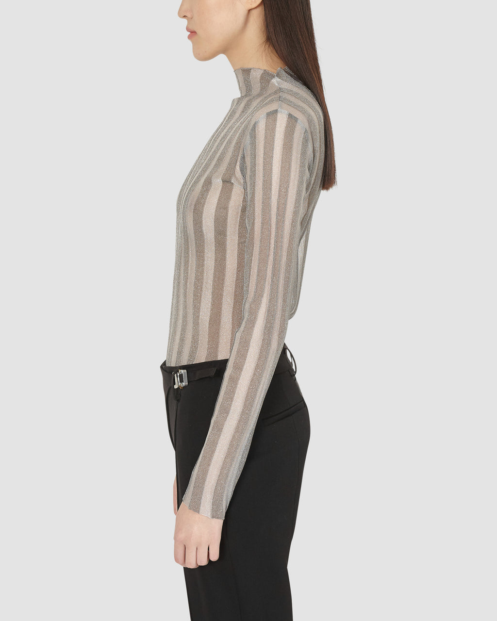 1017 ALYX 9SM | SEISMIC RIBBED TOP | Top | DARK GREY/LIGHT GREY, Google Shopping, KNITWEAR, S20, S20EXSH, Top, Woman, WOMEN