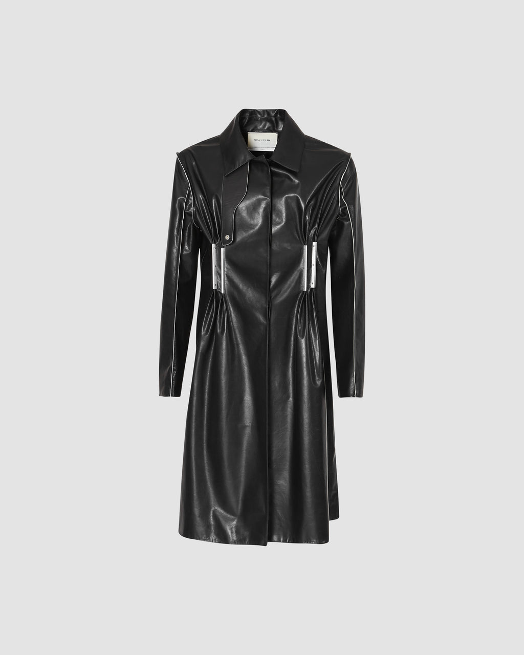 LEATHER DOUBLE METAL BAR COAT