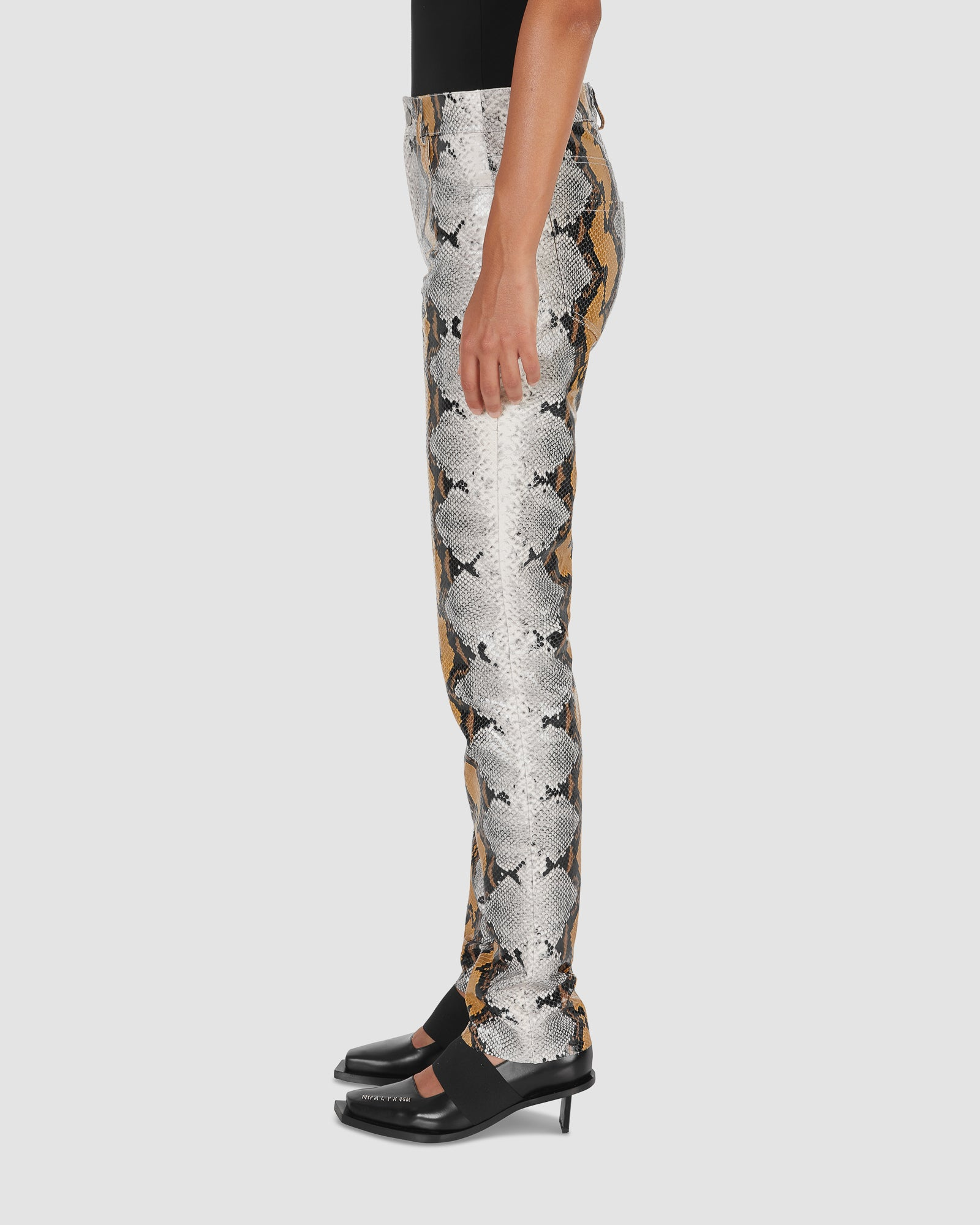 ANIMAL PRINT LEATHER PANT