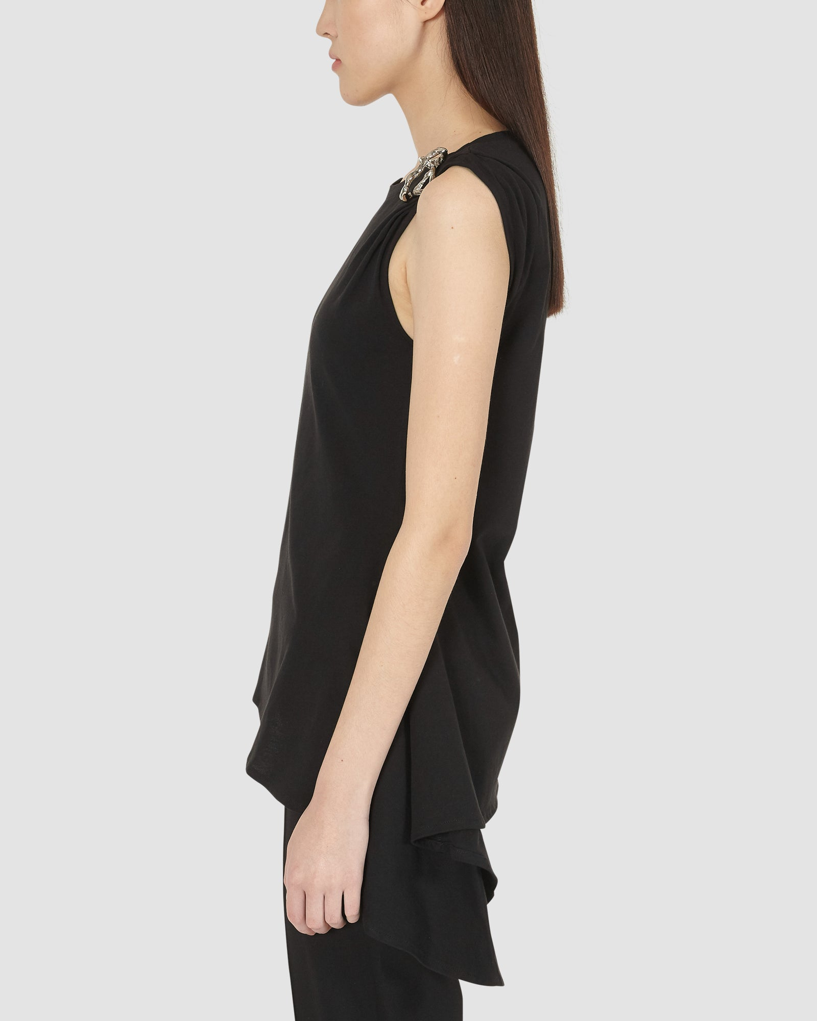 1017 ALYX 9SM | SLEEVELESS SMOCKED TOP | Top | BLACK, Google Shopping, S20, S20EXSH, Top, TOPS & SHIRTS, Woman, WOMEN