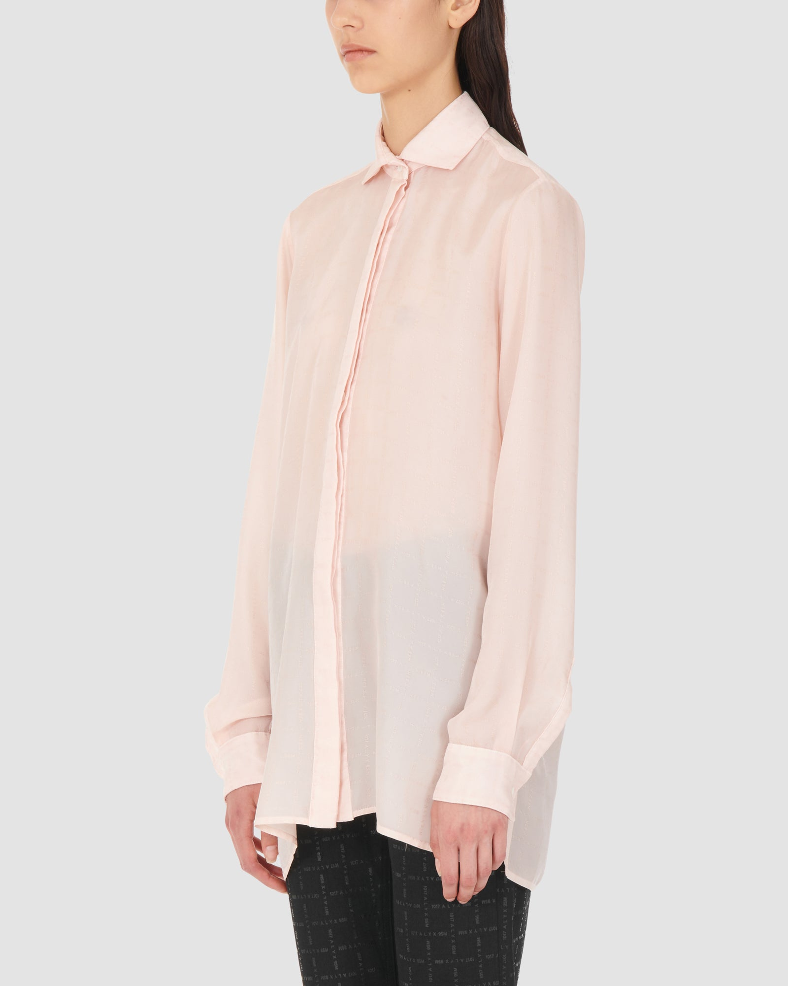 1017 ALYX 9SM | CROSSHATCH LOGO SILK SHIRT | Shirt | Google Shopping, PINK, S20, Shirts, SS20, TOPS & SHIRTS, Woman, WOMEN