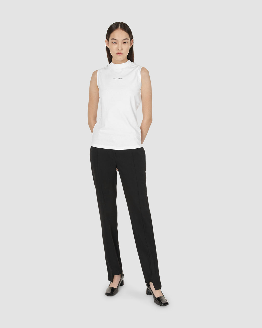"1017 ALYX 9SM | SLEEVELESS MOCKNECK TEE W ""A"" SPHERE 