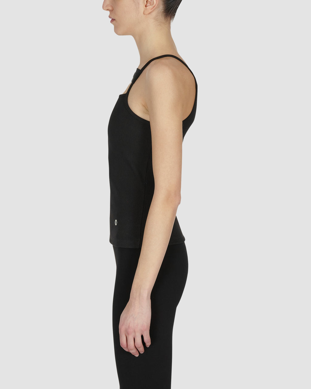 LOGO RIBBED TANK TOP