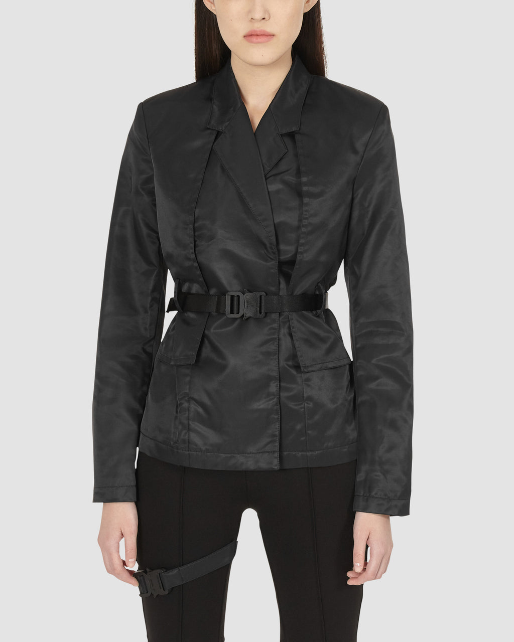 BLACK NYLON BLAZER