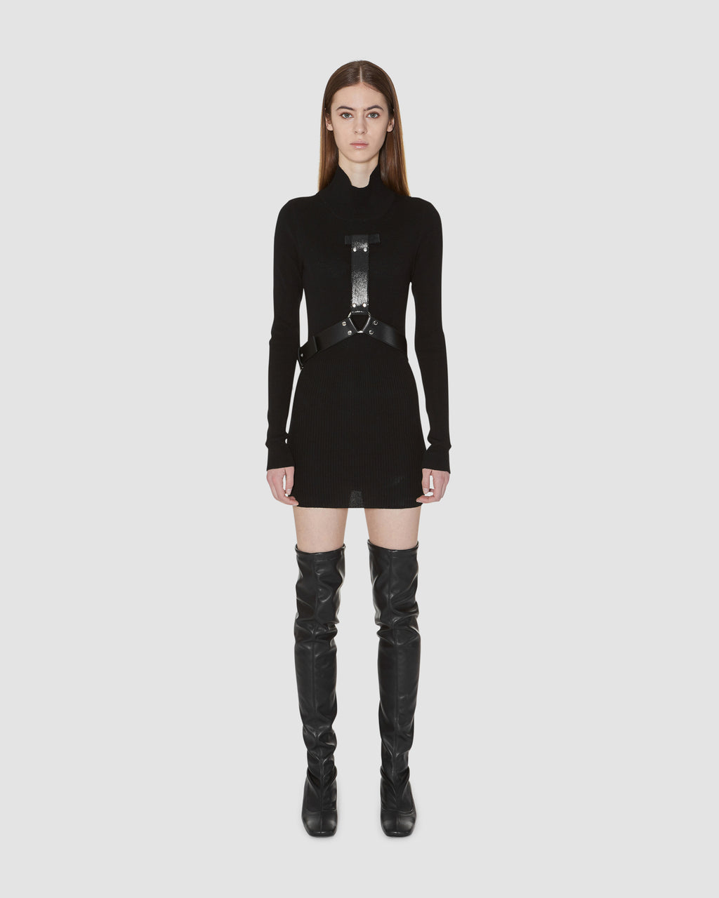 BONDAGE TURTLENECK DRESS