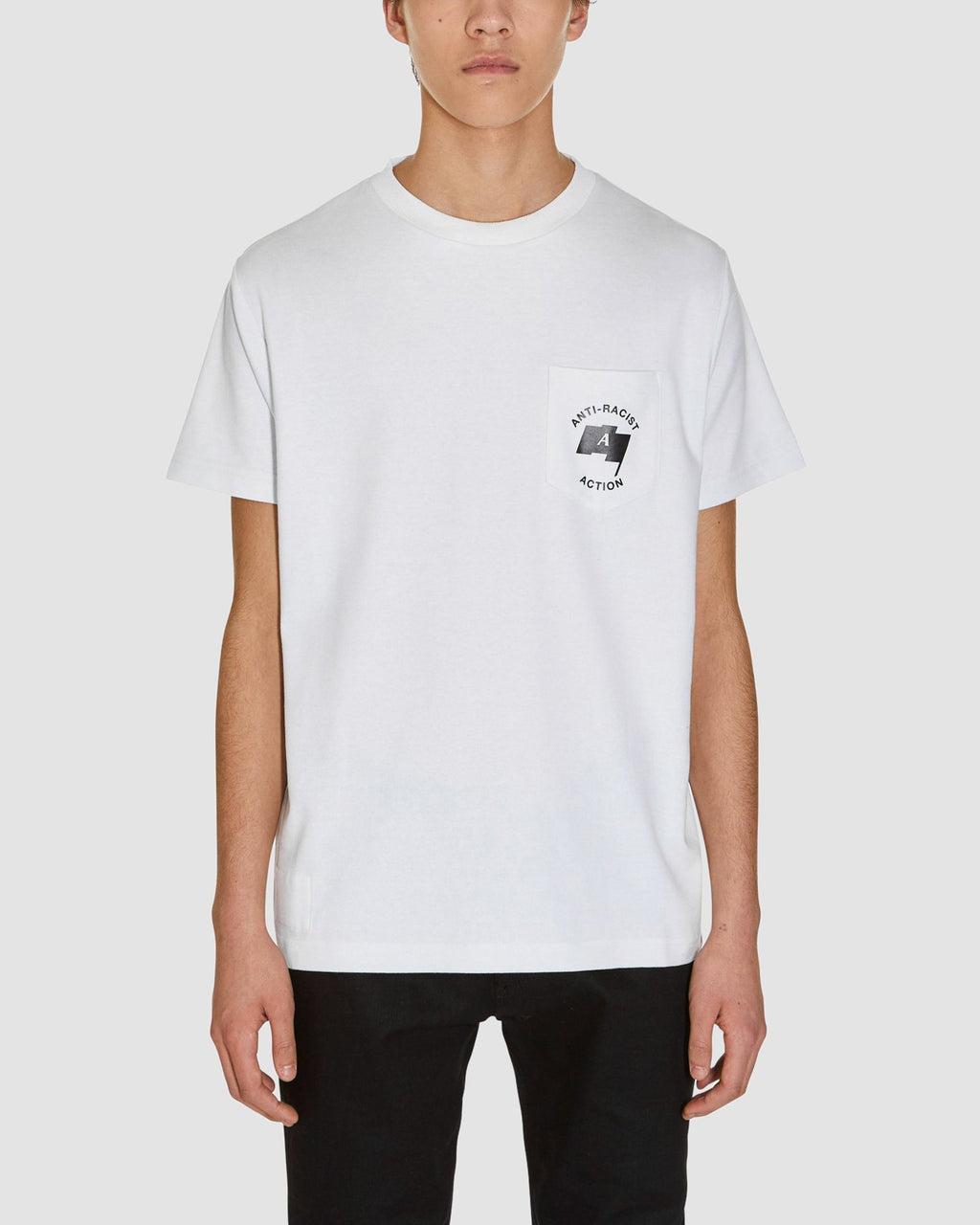 ANTI RACIST SS POCKET TEE