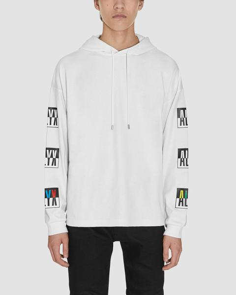 HOODED COLOR BLOCK LS T-SHIRT