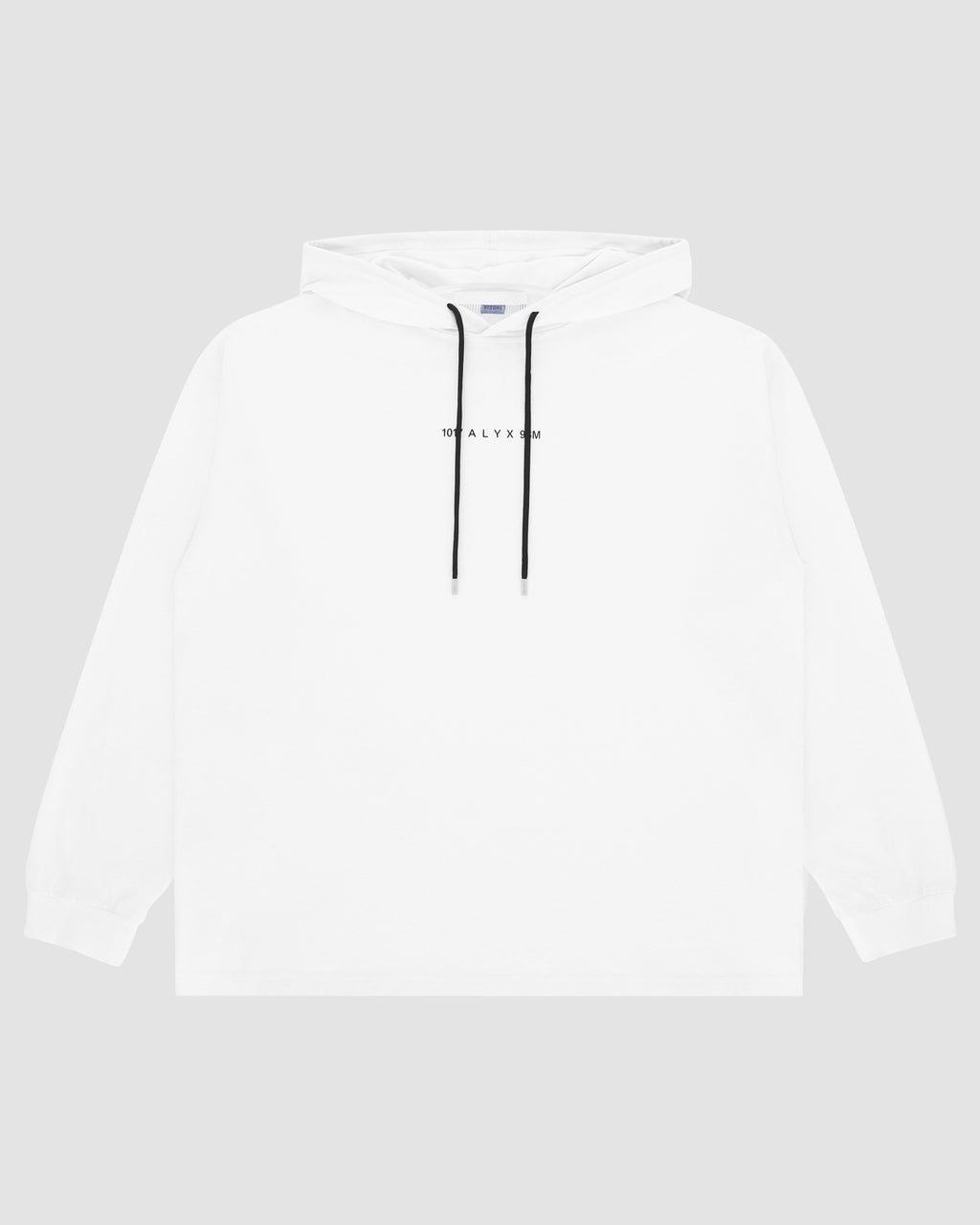 1017 ALYX 9SM | LOGO HOODED TEE | Sweatshirt | F19, Visual, White