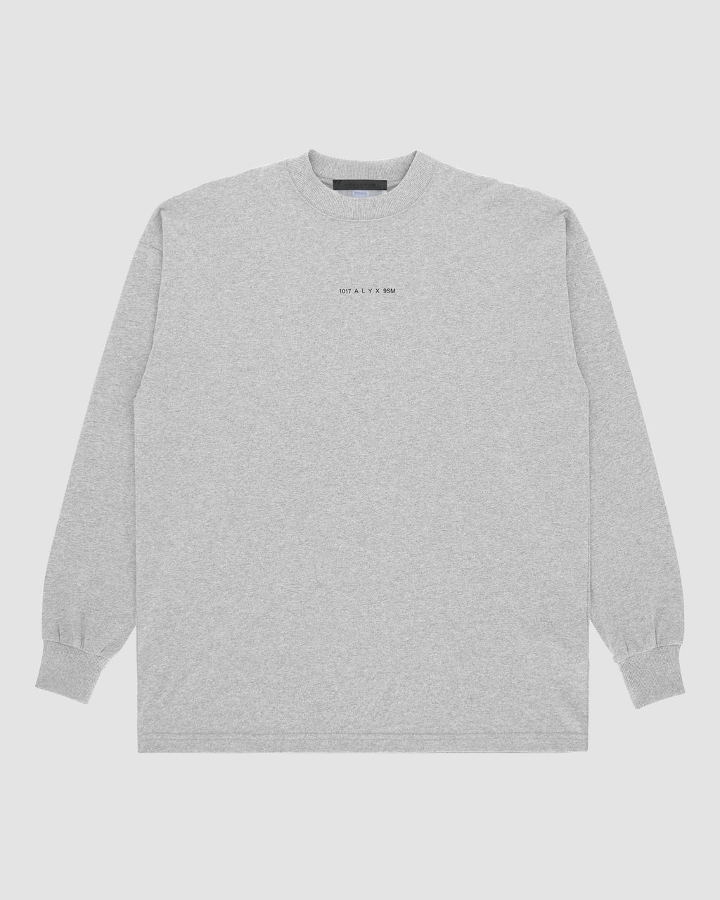 1017 ALYX 9SM | LOGO LS TEE | T-Shirt | F19, Grey, TESTINTEGRATION, Visual