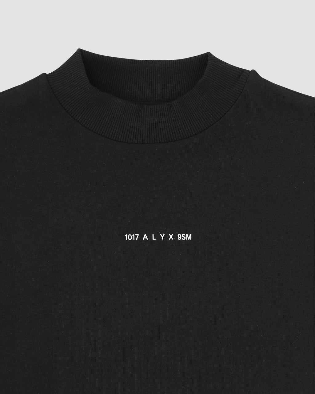1017 ALYX 9SM | LOGO MOCK NECK TEE | T-Shirt | Black, F19