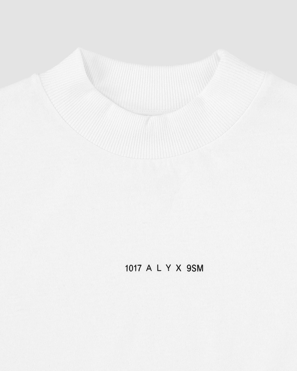 1017 ALYX 9SM | LOGO MOCK NECK TEE | T-Shirt | F19, White