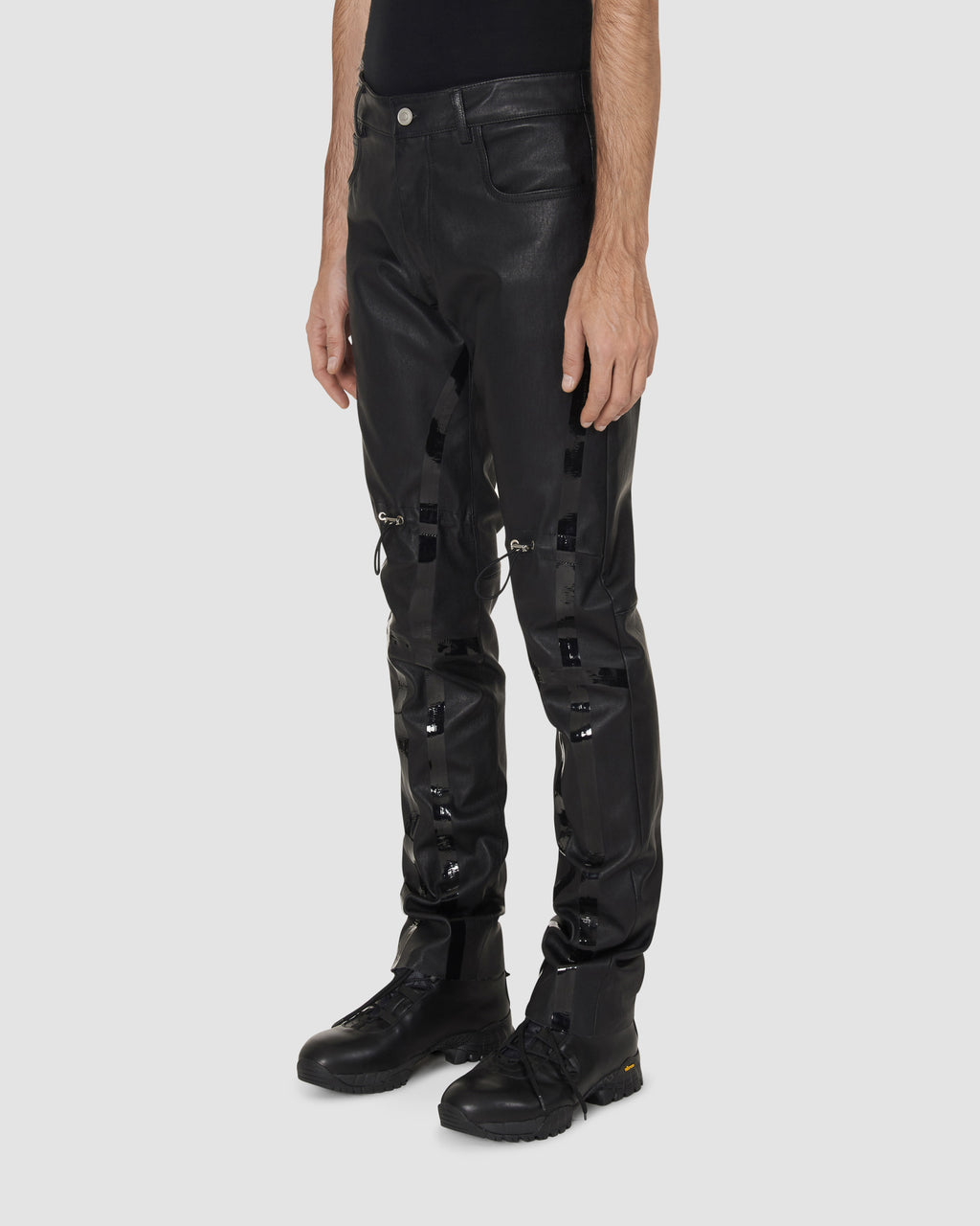NORDSTROM LEATHER GAITER PANT