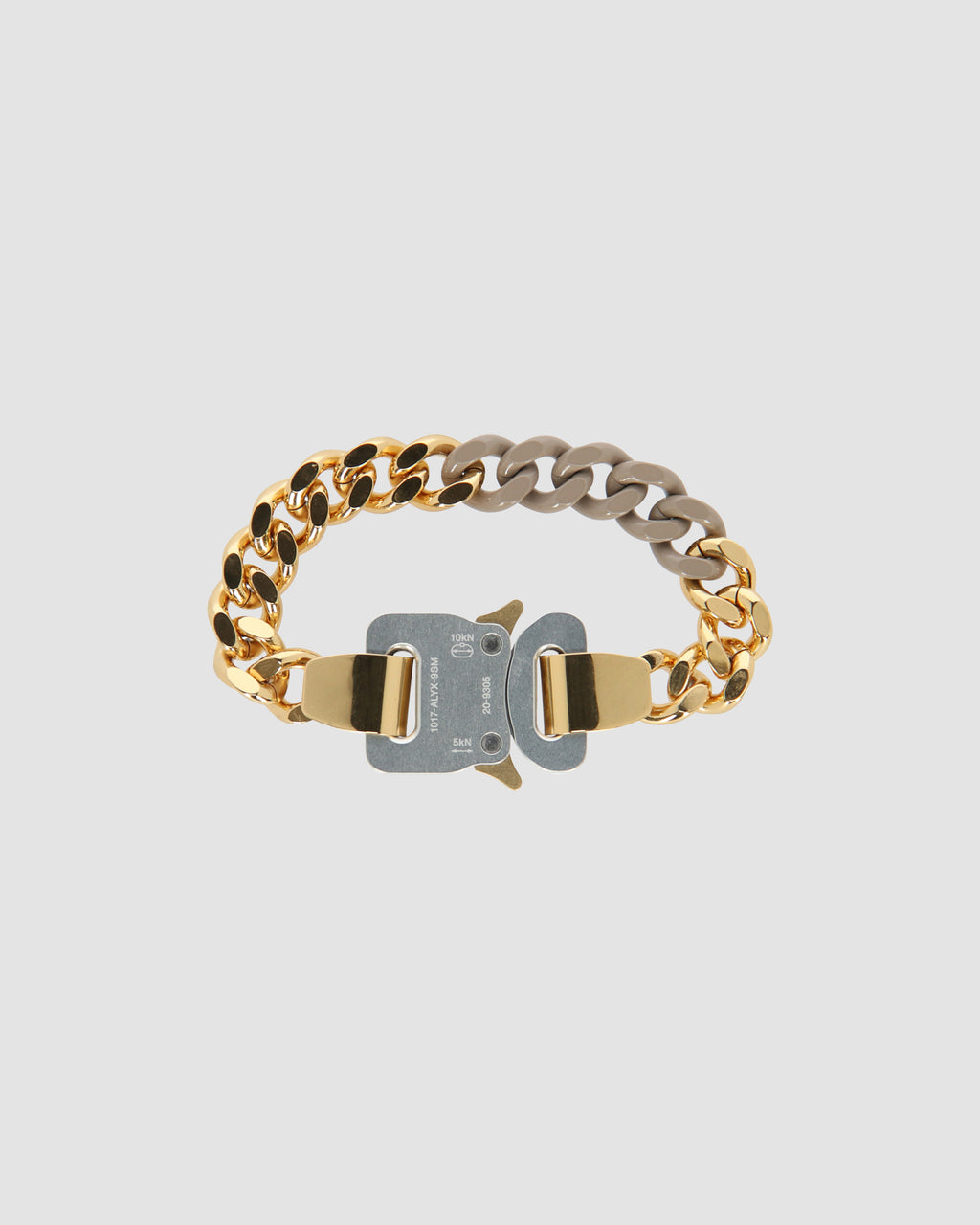 COLORED LINKS BUCKLE BRACELET