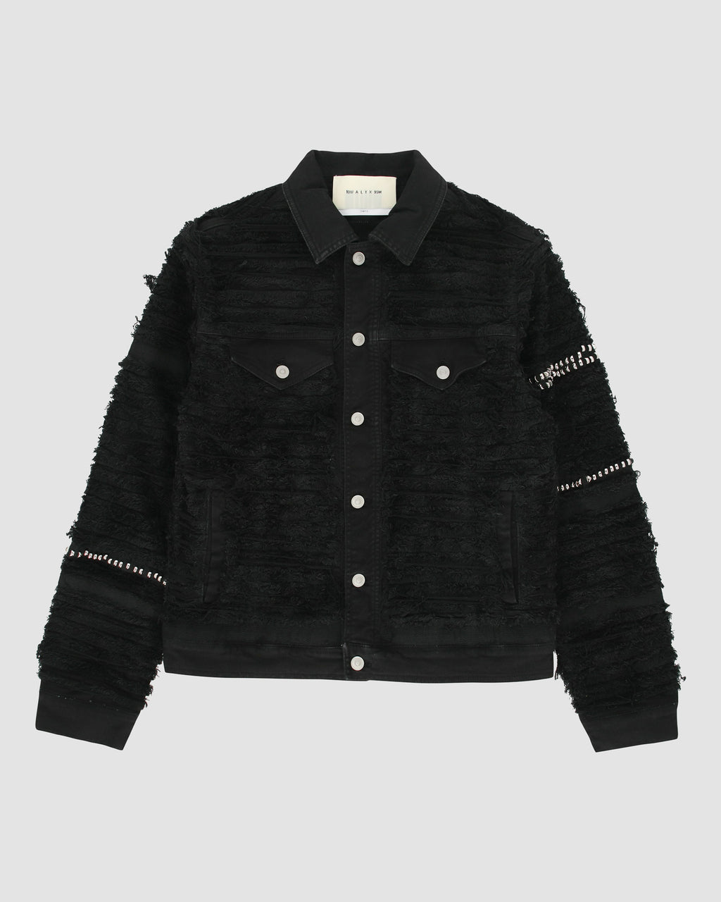 STUDDED DENIM JACKET BLACKMEANS