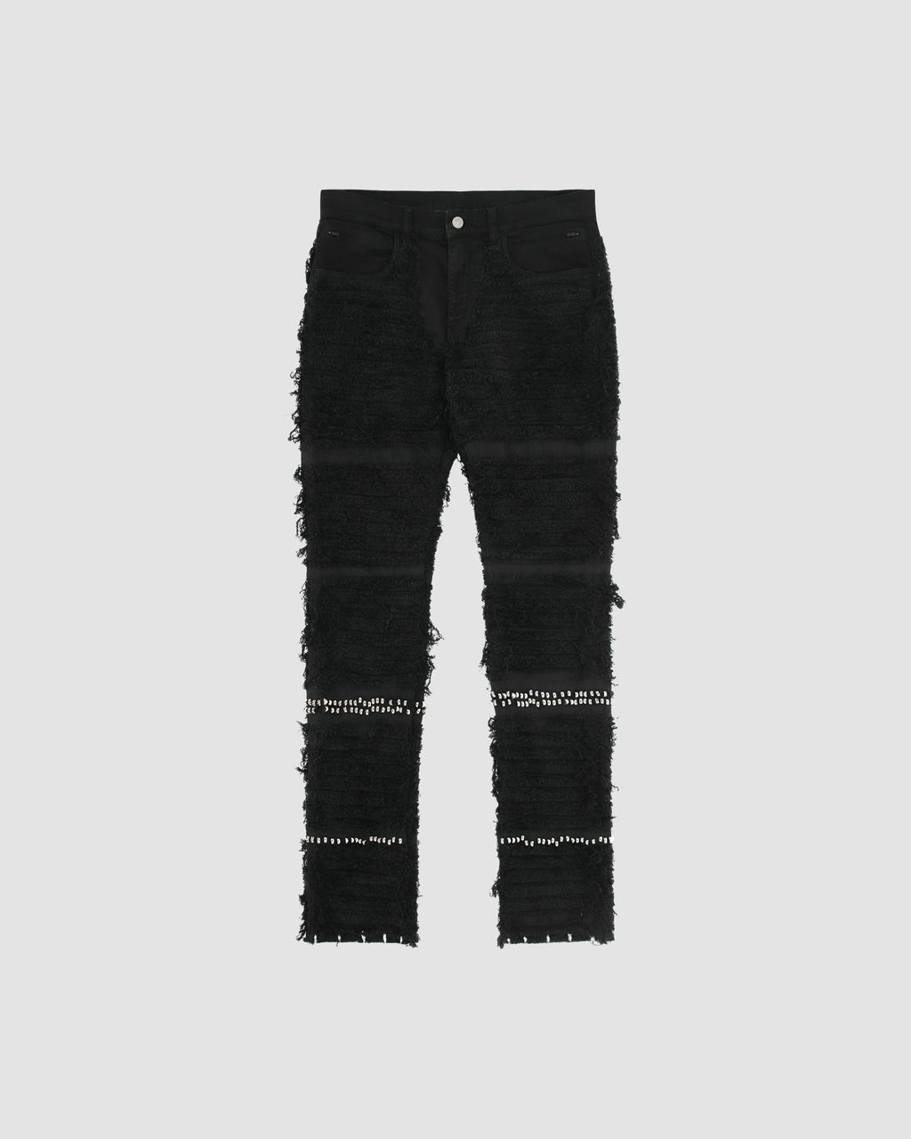 STUDDED BLACKMEANS 6 POCKET JEAN