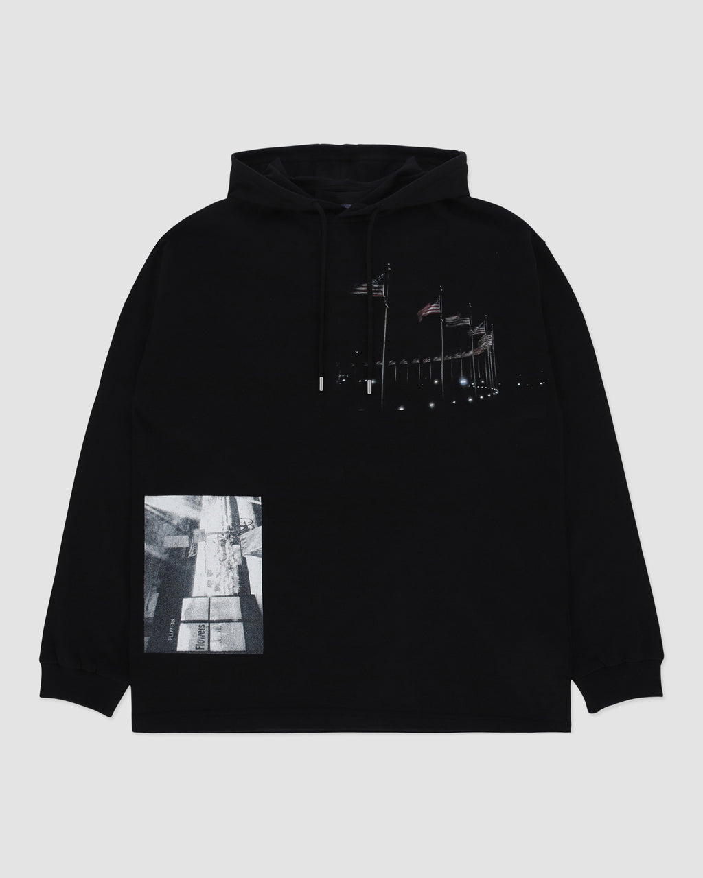 FLAG RING LS HOODED TEE