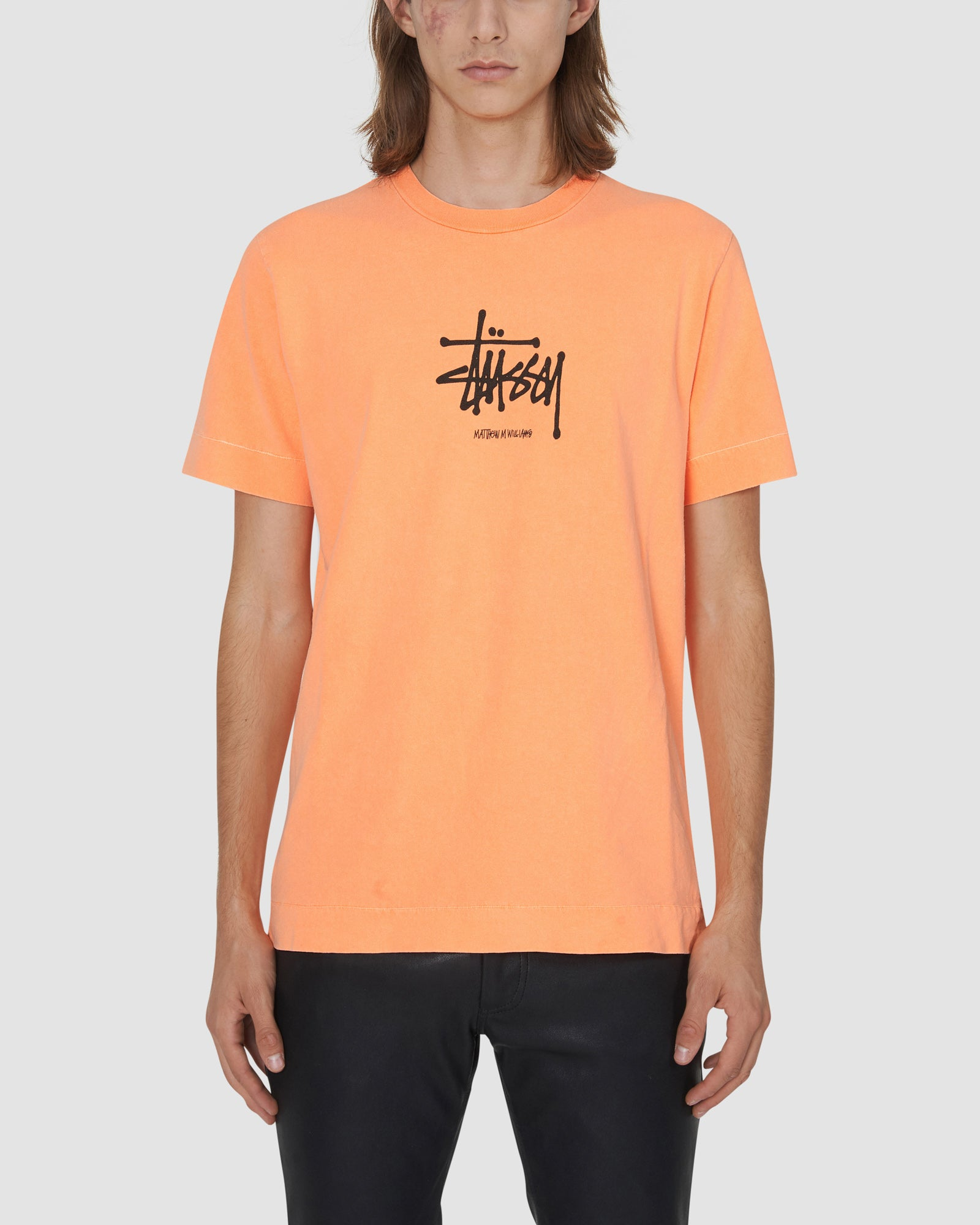 1017 ALYX 9SM | STUSSY S TEE | T-Shirt | F19, Man, Orange, STUSSY, T-Shirts, Woman
