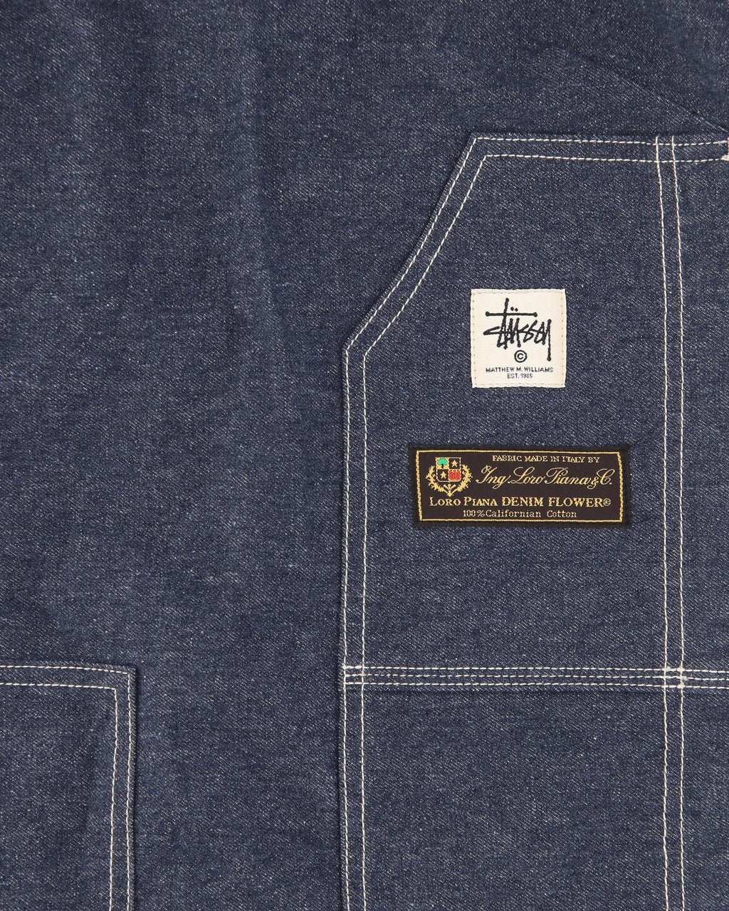 STÜSSY APRON DENIM DRESS
