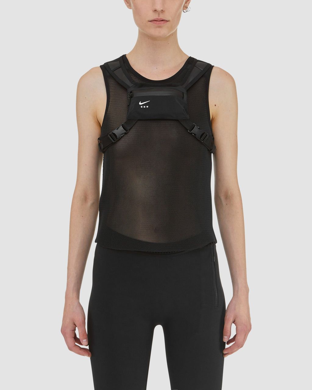 NIKE x MMW Mesh Shirt with Chest Pouch