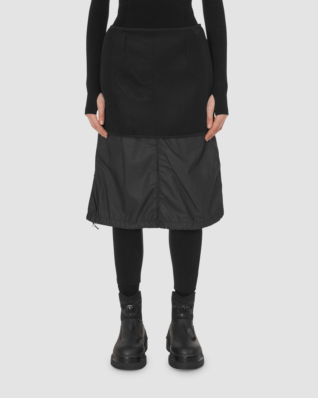 1017 ALYX 9SM | MONCLER SKIRT | Skirt | BLACK, Google Shopping, Moncler, S20, Skirts, Woman