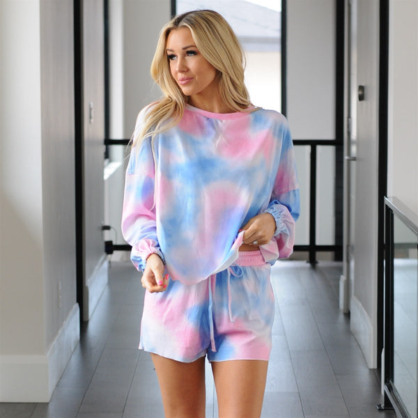 Tie Dye Loungewear Short Set