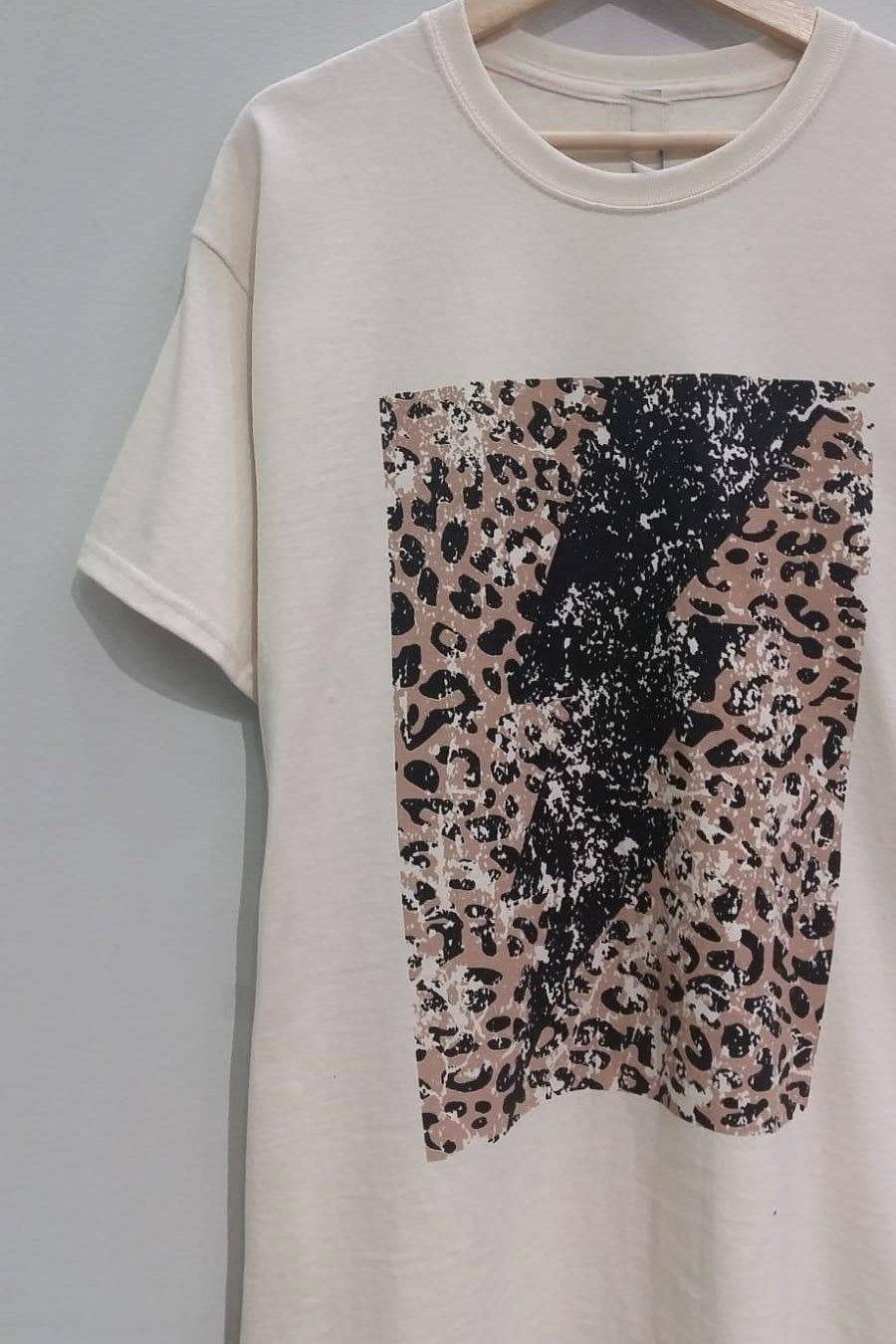 Lightning and Leopard Graphic Tee
