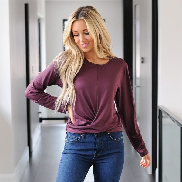Relaxed Cross Front Top
