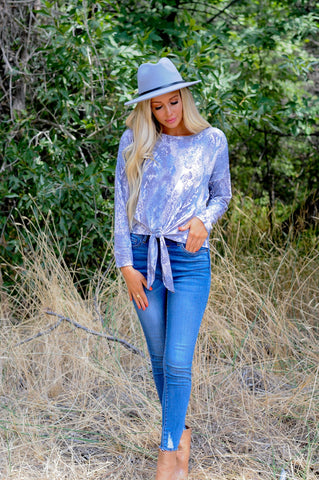 Soft Muted Snake Tie Top